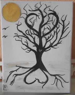 geschenk idee hochzeitsbaum hochzeitsfingerabdruckbaum leinwand sachsen. Black Bedroom Furniture Sets. Home Design Ideas