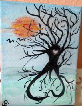 Geschenk idee hochzeitsbaum hochzeitsfingerabdruckbaum leinwand sachsen - Hochzeitsbaum leinwand ...